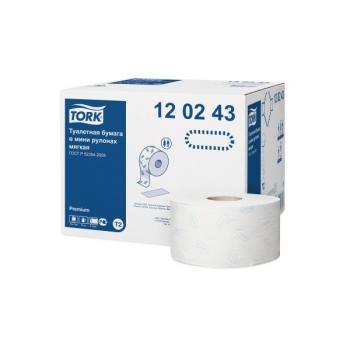 Туалетная бумага Tork Premium mini, 2-сл.,170 м. Арт. 120243
