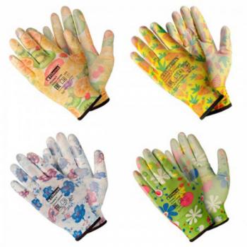 """Перчатки Fiberon """"Для садовых работ"""" нитриловое покрытие размер M"""