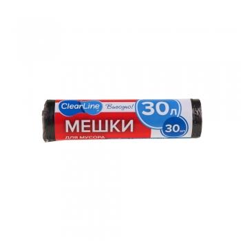 "Мешки для мусора ПНД 30л. 30шт., 7мкм, 50см*60см, ""Clear Line"" Эконом"