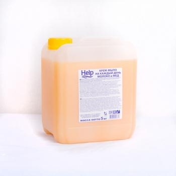 """Крем-мыло """"Help"""" Молоко и мед, 5 л"""