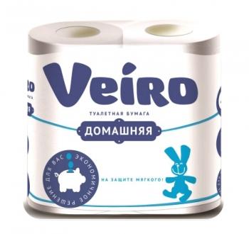 Туалетная бумага «Linia Veiro» Домашняя 4шт., 2сл.