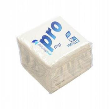 Салфетки бумажные «Pro», 100 л., 1- сл., белые