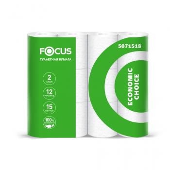 Туалетная бумага  Focus Economic Choice 12 рул., 2-х сл.
