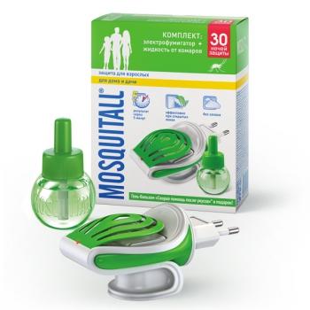 """Комплект """"Защита для взрослых"""" Москитол, жидкость + фумигатор"""