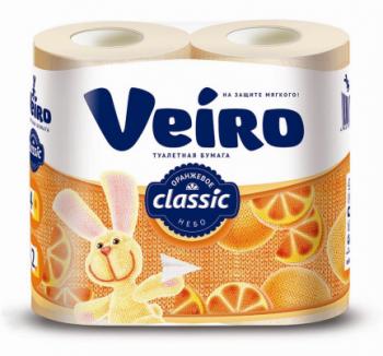 Туалетная бумага «Linia Veiro» Оранжевое небо 4шт., 2сл.
