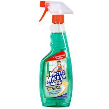 Средство для чистки стекол «Мистер Мускул» с нашатырн. спиртом, 500 мл