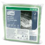 Салфетка из микрофибры TORK зеленая