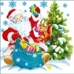 """Салфетки бумажные """"Гармония цвета"""" 50 л 1-сл 24*24 Новогодние"""
