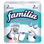 Полотенца бумажные «Familia» 2сл., 2шт., белые