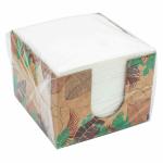 Салфетки бумажные КРАФТ 100л., 1-сл., 24х24 см, белые.