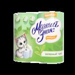 Туалетная бумага «Мягкий знак» Comfort Зеленый чай, 4 шт, 2-сл.