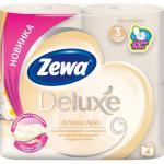 Туалетная бумага «Zewa Delux» Арома Спа 4 рул., 3-х сл.