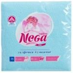 Салфетки бумажные «Nega» (Нега), 75 л., 1-сл., 24х24 см, голубые