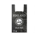 Пакет ПВД «майка» Suomi Finland черный  30см*57см 35мкм