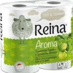 Туалетная бумага «Reina» Aroma Яблоко 4 рул., 2-х сл.