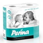 """Туалетная бумага """"Perina"""" 4 рулона, 3-слойная."""