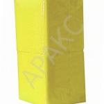 Салфетки бумажные Брянск, 400 л., 1- сл., 24х24 см, желтые пастель