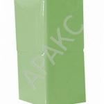 Салфетки бумажные Брянск, 400 л., 1- сл., 24х24 см, зеленые пастель