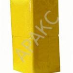 Салфетки бумажные Брянск, 400 л., 1- сл., 24х24 см, желтые насыщенные
