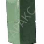 Салфетки бумажные Брянск, 400 л., 1- сл., 24х24 см, зеленые насыщенные