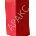 Салфетки бумажные Брянск, 400 л., 1- сл., 24х24 см, красные