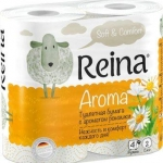 Туалетная бумага «Reina» Aroma Ромашка 4 рул., 2-х сл.
