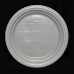Тарелка пластиковая 20,5 см без секций, 100 шт.