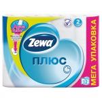 Туалетная бумага «Zewa Плюс» 12 рул., 2-х сл., белая