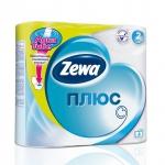 Туалетная бумага «Zewa Плюс» 4 рул., 2-х сл., белая