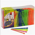 Пики / шпажки декор цветные Булава 400 шт
