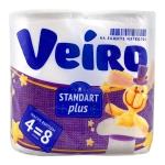 Туалетная бумага «Linia Veiro Standart Plus» 4шт, 2сл.