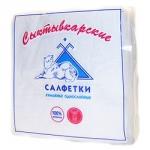 Салфетки бумажные «Сыктывкарские», 100 л., 1- сл., 24х24 см, белые