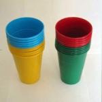 Набор стаканов 200 мл цвет. 10 шт, 75 наборов.