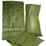 Мешки ПОЛИПРОПИЛЕН зеленый, 55см*95см, 63 гр.