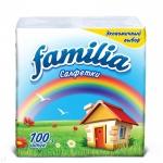 """Салфетки бумажные """"Familia"""" Радуга 100 л, 1-слойные"""