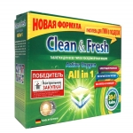 Таблетки для ПММ Clean&Fresh All in 1, 30 шт.