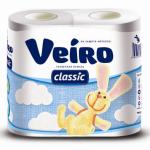 Туалетная бумага «Linia Veiro» Classic 4шт., 2сл., белая