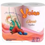 Туалетная бумага «Linia Veiro» Classic 4шт., 2сл., розовая.