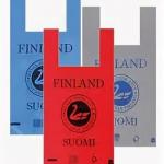 Пакет ПВД «майка» Suomi Finland красный  28см*57см 30мкм