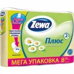 Туалетная бумага «Zewa Плюс» Желтая 8 рул., 2-х сл.