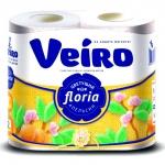 Туалетная бумага «Linia Veiro» Цветущий апельсин  4шт., 2сл.