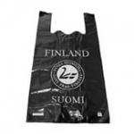Пакет ПВД «майка» Suomi Finland черный  28см*57см 30мкм