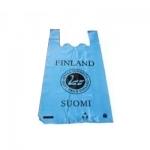 Пакет ПВД «майка» Suomi Finland бирюзовый  28см*57см 30мк