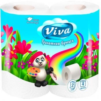 Туалетная бумага «Viva» (Вива) 2-слойная, 4шт., белая